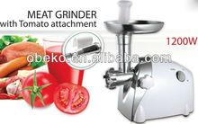 Casa moedor de carne elétrico de máquinas de carne picador de carne chopper com tomate juicer, Cortador de legumes