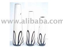 Cone Trio Contempory Decor Pottery vases