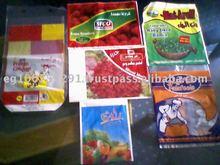 BAGS FOR FROZEN VEGETABLES & FRUITS