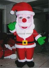 Inflatable christmas costume, fur mascot santa claus C1038