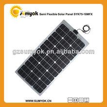 Home use 75W Semi-flexible Solar Panel Price
