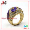 jingmei 18kindio esmalte cz diamante de oro anillos de la joyería catálogo 2013 r5379f