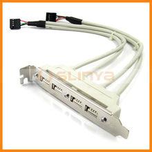 4-Port USB Rear Bracket Adapter for Desktop Computer (20 CM-Cable)