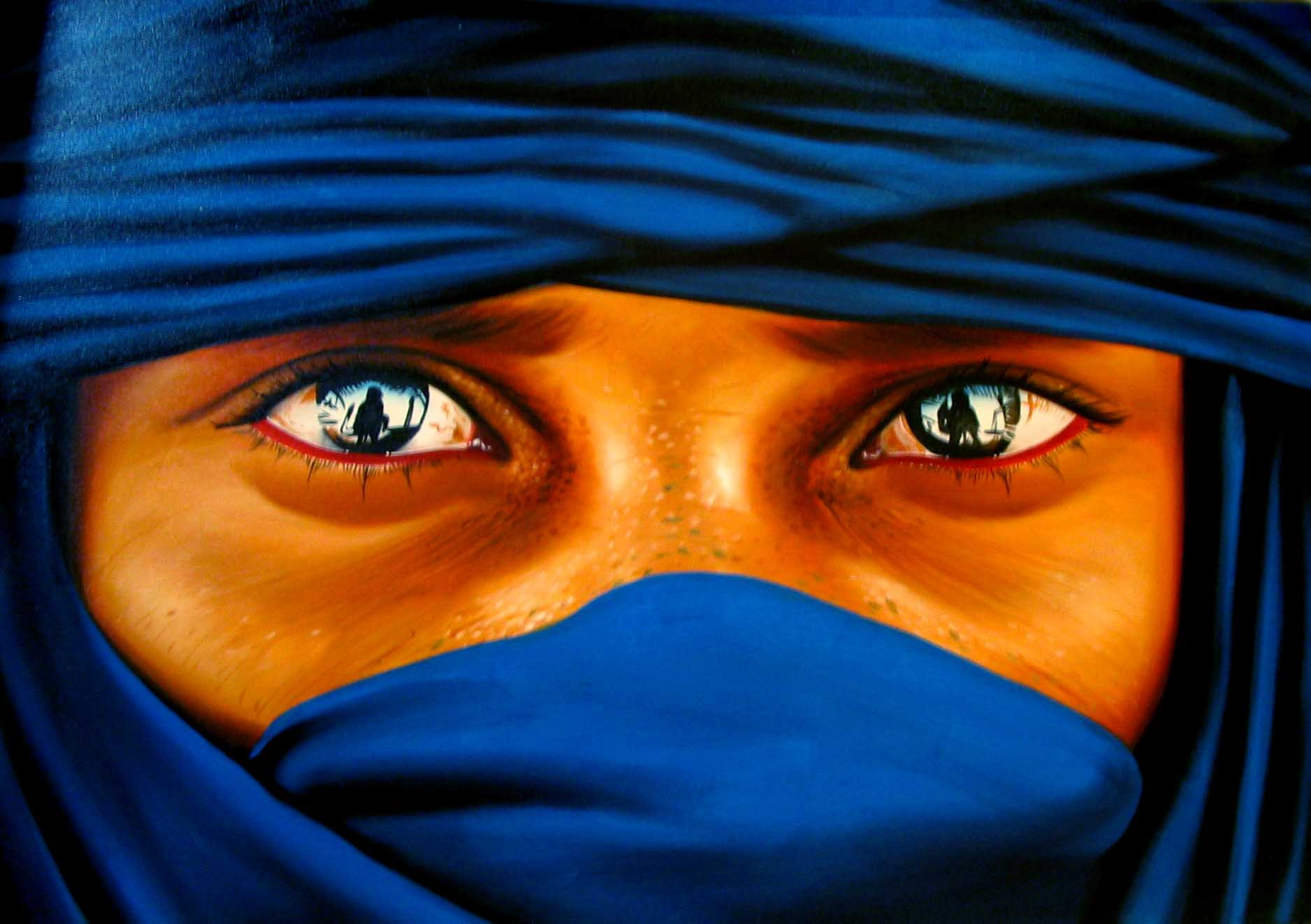 painting of eyes