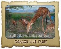 Model for Playground animal animatronic giraffe