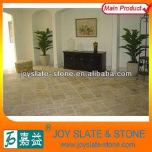 Piedra caliza de pisos de color beige / piedra caliza de patrón de baldosas