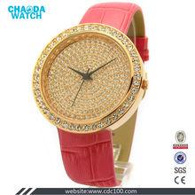 CDX3626 fashion genuine leather good looking jewelry watch
