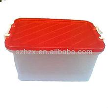 Large Reuseful Plastic Square Bin Box Exporter with Lid Lock