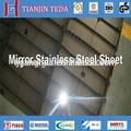 Espejo 201/8k terminado placas de acero inoxidable de la hoja