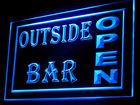 170041B Outside Bar Pub Open Recreational Swanky Garden Beer LED Light Sign