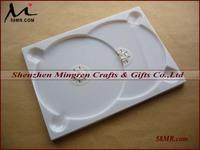 14MM Black White Double Plastic PS CD DVD Case