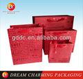 rojo mango de la cinta de la boda de papel bolsa de regalo