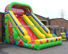 Fun inflatable pool slide for kids' party W4114