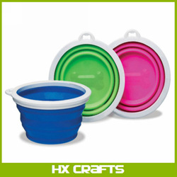 ANY COLOR - SILICONE COLLAPSIBLE DOG BOWL - 3 CUP