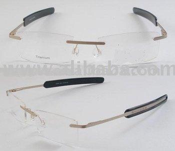3 piece Rimless Eyeglass frames designer frames