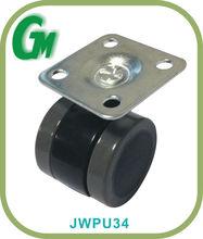 PU edge Dia 35mm nylon twin wheel caste