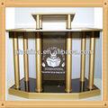 An-c365 venta de la fábrica transparente púlpito soporte / acrílico púlpito de la iglesia / Metal moderno Pulpits