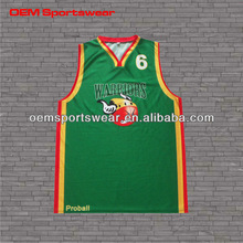 Dry fit sublimation youth basketball tops