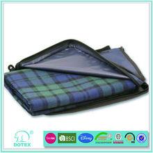 100% polyester picnic blanket package by PVC bag korea travel