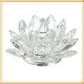claro de cristal titular de loto vela para decoración de año nuevo
