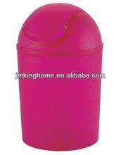 pink plastic waste bin