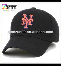 baseball cap mens new york orange logo black sports outdoor fashion ball hat