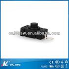 Flashlight Torch 2 Pin Latching Push Button Switch Black AC 250V 1.5A