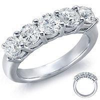 Five-Stone Diamond Ring in Platinum (2 ct. tw. )