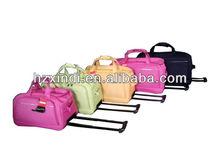 2013 fashion design 5pcs trolley bag with brand