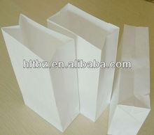 printing paper shopping bagwith handle/gift bag/white kraft paper bag