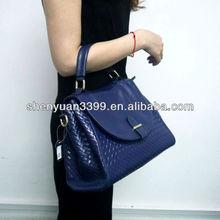 Korean style Lady Hobo fashion blue handbag shoulder bag weave women purse