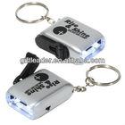 Mini Dynamo Flashlight Key Chain