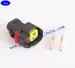 1 FUEL INJECTOR PLUG 2 PIN QUICK RELEASE BOSCH EV6 FUEL INJECTOR OVAL CONNECTOR