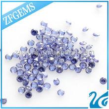 synthetic round cut cz artificial zircon