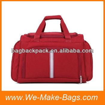600D red designer traveling bag
