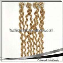 2014 Wholesale fashion Micro-ring /Loop Hair Extension human hair cheap combodian hair weave