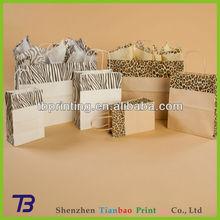 Animal Print Shopper Leopard custom made paper bags