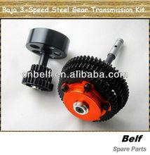 Baja 3-speed conversion steel gear transmission Kit for hpi/rovan/gtb Baja 5b, Baja 5t