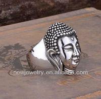 Zhui Hao Vogue Titanium Steel Buddha to Buddha Ring