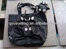Cute rabbit folding grocery shopping bag