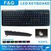 usb led backlit keyboard with CE/FCC/ROHS certificate
