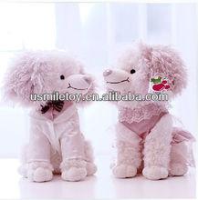Plush toy pink dog lovers festive lovers doll wedding doll dog