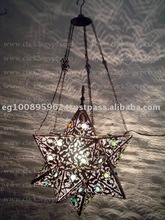 Antique Art Style Moroccan Handmade Hanging Star Lamp