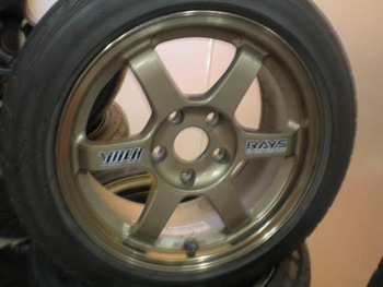 Rays TE37 (used with tire) rim