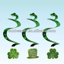 St. Patrick's Day Shamrock Hanging Swirl Decorations Irish Good Luck