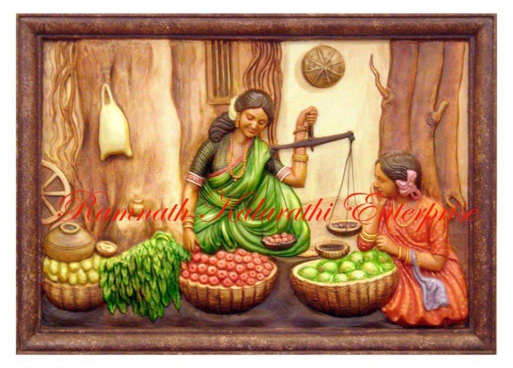 rajasthani mural painting, View painting, fibreglass mural Product ...