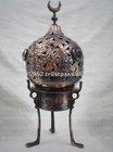Oriental Silver Plated Etched Handmade Incense Burner