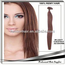 2014 China most fashionable U-Tip/Nail Hair Extension fashion wig mono top brazilian hair wig