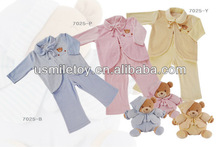 2013 top quality plush baby clothes with animal pattern