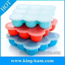 high quality silicone ice cube tray with lid